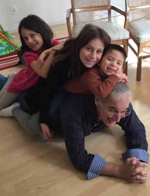 girls, Isaac and Pop Pop