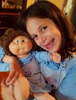 Avery with Cabbage Patch doll