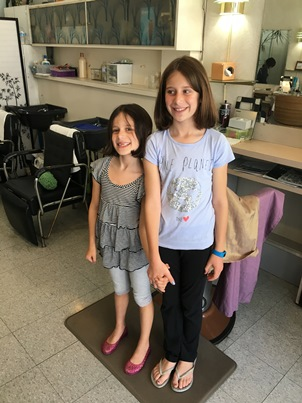 girls' hair cut