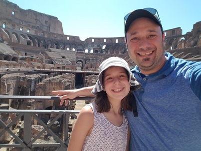 Zoe and Daddy at Colosseum