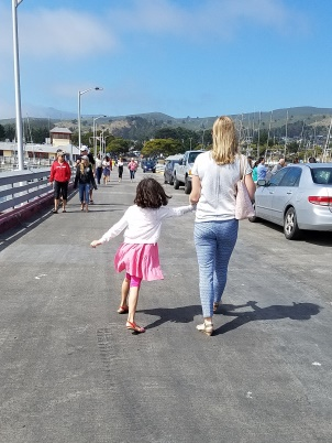 Mommy and Avery strolling